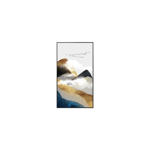 Abstract Golden Mountain Posters - 30x50cm(No Frame) / A - Wall Poster