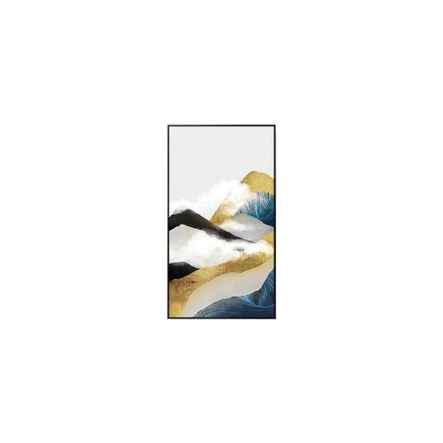 Abstract Golden Mountain Posters - 30x50cm(No Frame) / B - Wall Poster