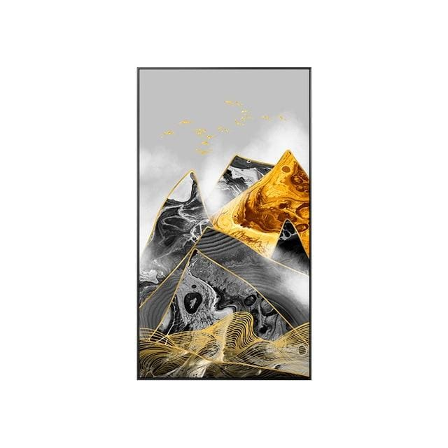 Abstract Mountain Poster Print - 40x70cm (No frame) / A - Wall Poster