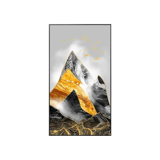 Abstract Mountain Poster Print - 40x70cm (No frame) / B - Wall Poster