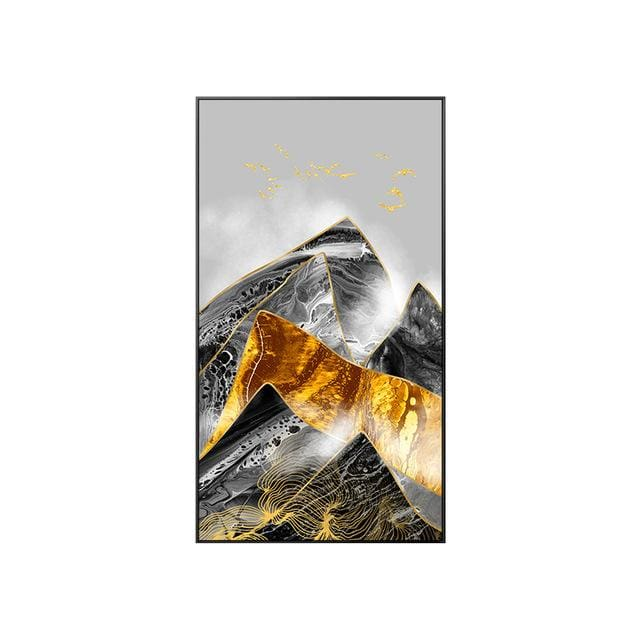 Abstract Mountain Poster Print - 40x70cm (No frame) / C - Wall Poster