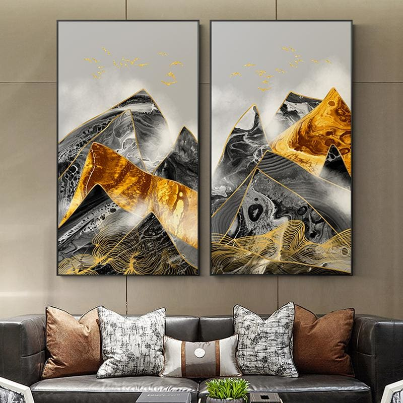 Abstract Mountain Poster Print - Wall Poster
