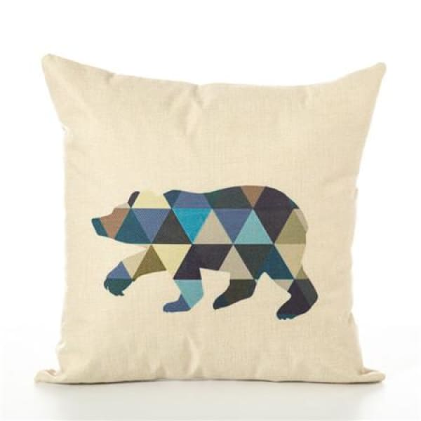 Animal Pillow Case - 450mm*450mm / Bear - pillow case