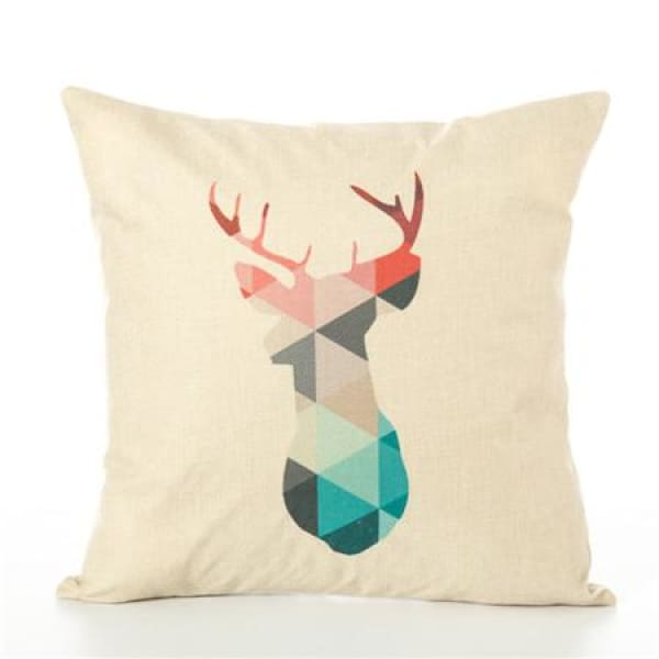 Animal Pillow Case - 450mm*450mm / Deer Red - pillow case
