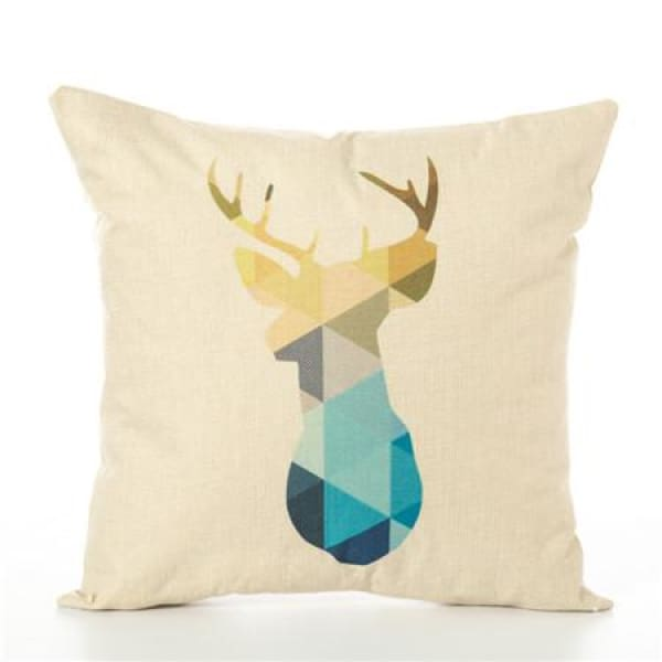 Animal Pillow Case - 450mm*450mm / Deer Yellow - pillow case