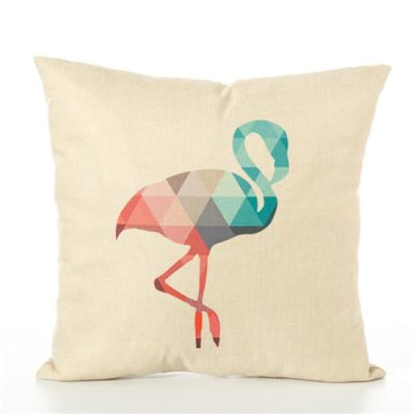 Animal Pillow Case - 450mm*450mm / Flamingo - pillow case