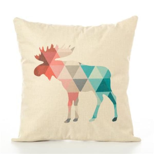 Animal Pillow Case - 450mm*450mm / Moose - pillow case