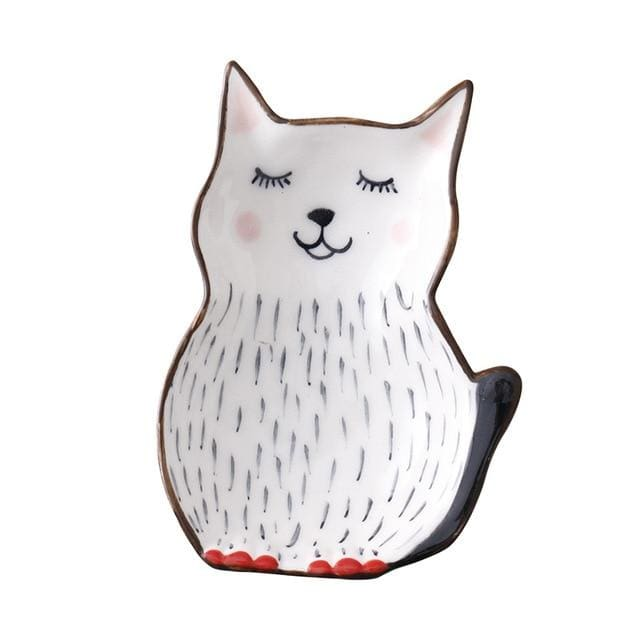 Cartoon animal tableware - cat 2 - plates