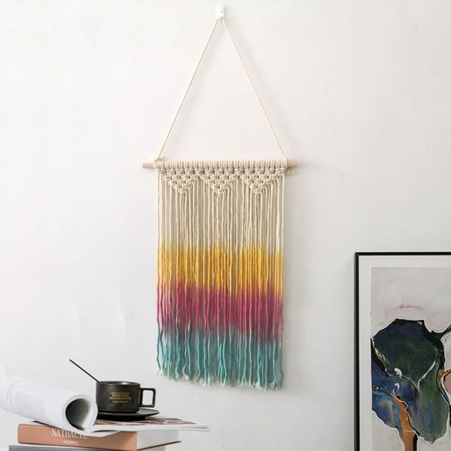 Colorful Macrame Wall Hanging Tapestry - macrame