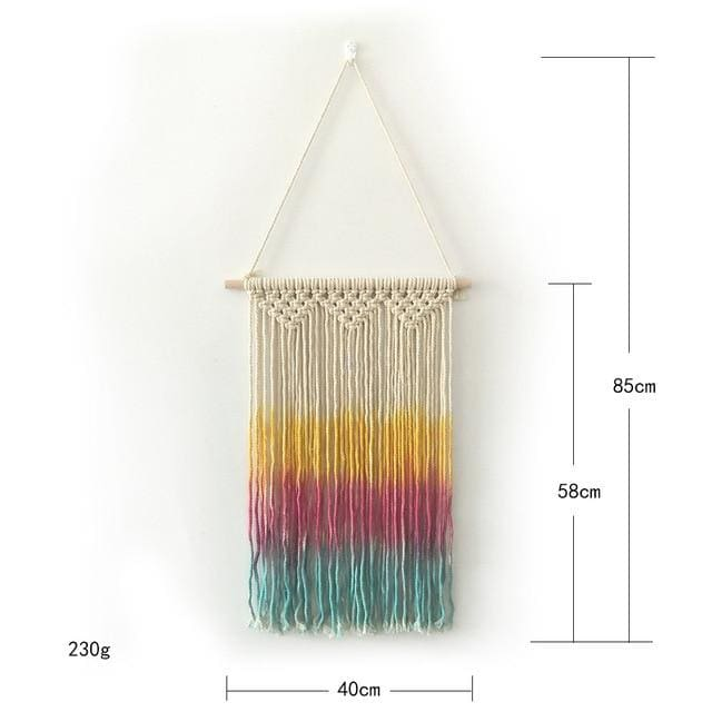 Colorful Macrame Wall Hanging Tapestry - colorful - macrame