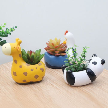 Cute little animal flower pot - flower pot