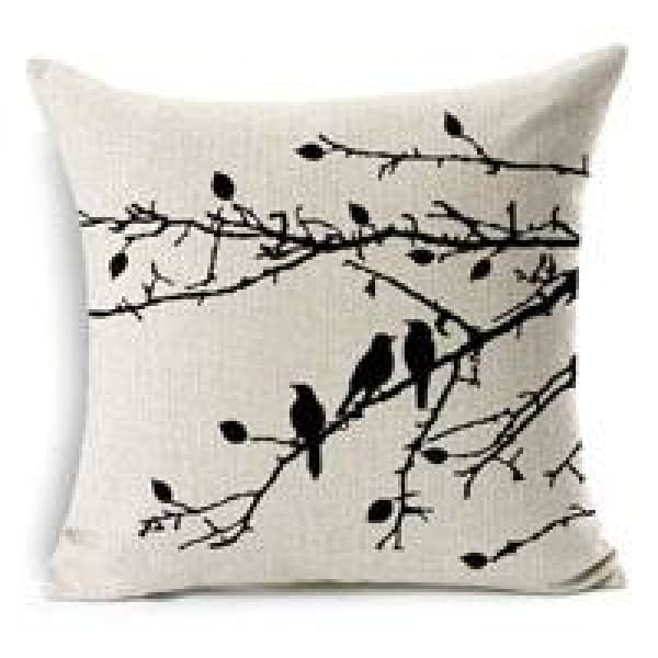 Decorative Pillow Case - 10 Three bird / 45x45cm - pillow cases