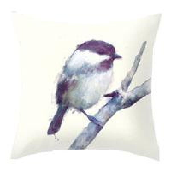 Decorative Pillow Case - 12 Purple bird / 45x45cm - pillow cases