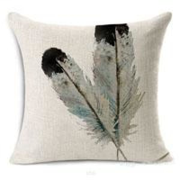 Decorative Pillow Case - 16 Feather4 / 45x45cm - pillow cases