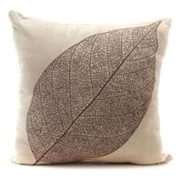 Decorative Pillow Case - 2 Leaves / 45x45cm - pillow cases