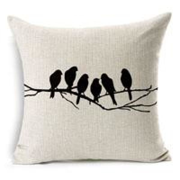 Decorative Pillow Case - 9 Six bird / 45x45cm - pillow cases