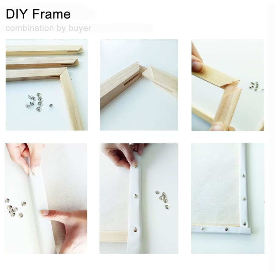 DIY Painting By Numbers Landscape - DIY painting