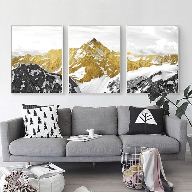 Golden Mountain Wall Art - Wall Poster