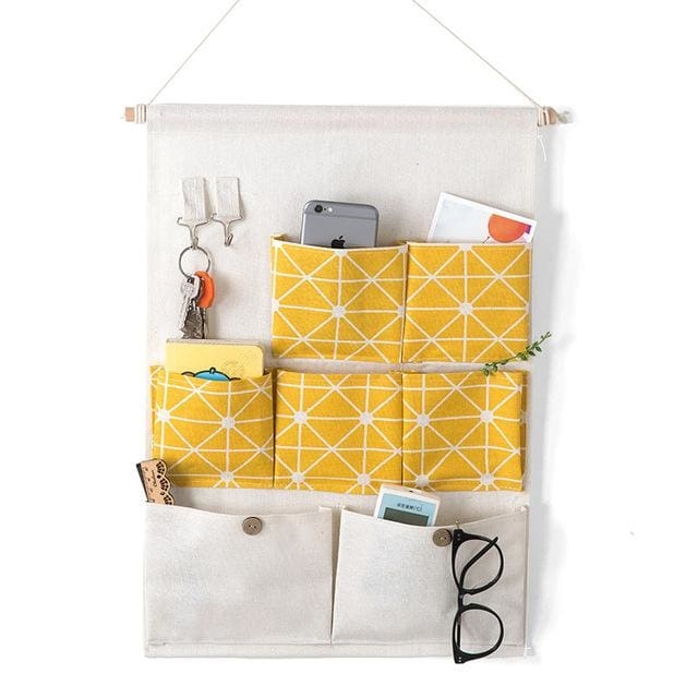 Hanging Organizer Bag - 14 20 cm / Yellow - storage bag