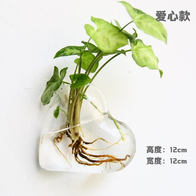 Hanging Wall Glass Vase - Like picture - vase