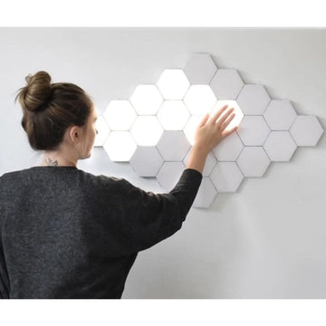 Hexagon LED Mosaic Lamp Set - lights