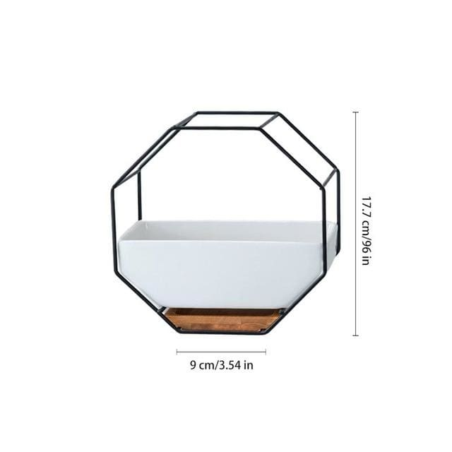 Hexagon Wall Planter - Black - wall planter