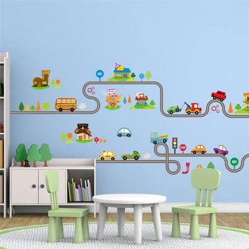 Highway Track Wall Stickers - wall sticker