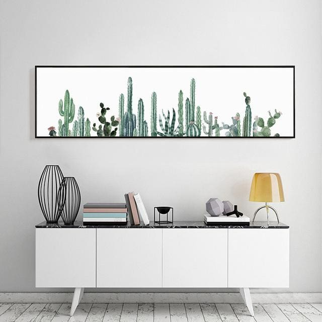 Horizontal Cactus Poster - 30x113cm 12x44inch - Wall Poster