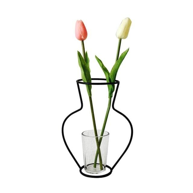Iron Outline Vase - G01 - vase
