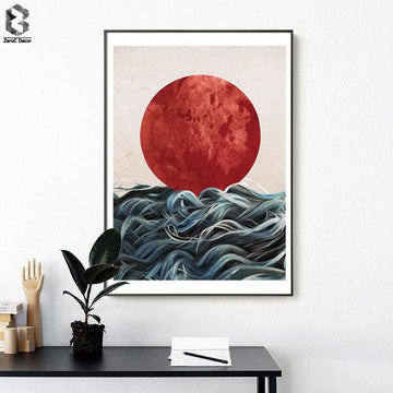 Japanese Sunrise Wall Art - Wall Poster