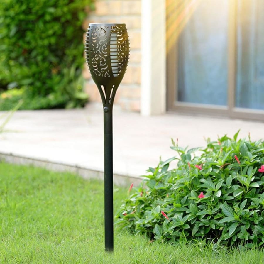 LED Solar Flame Torch Light - torch lamp