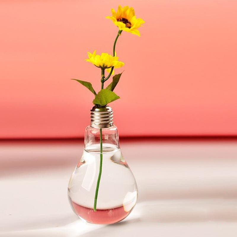 Light Bulb Glass Vase - glass vase