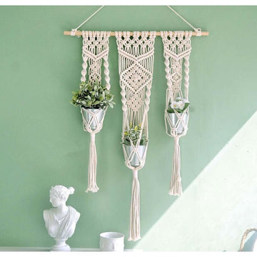 Macrame Hanging Plant Pot Holders - Macrame Hanging Plant Pot Holders