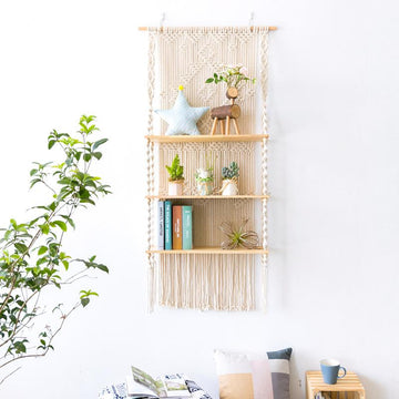 Macrame Triple Hanging Shelf