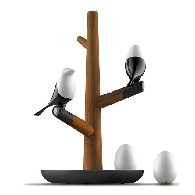 Magpie Bird Night Lamp - 2 Birds 2Eggs - lamp