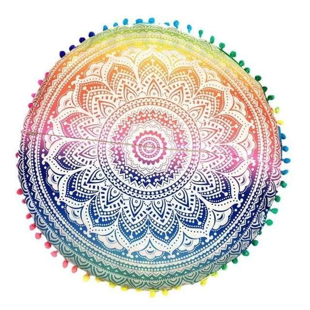 Mandala floor pillow - 6 - floor pillow