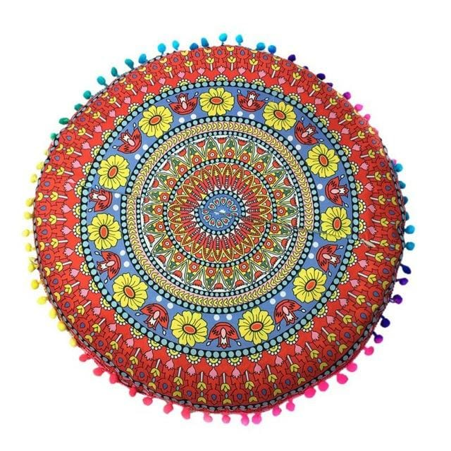 Mandala floor pillow - 7 - floor pillow