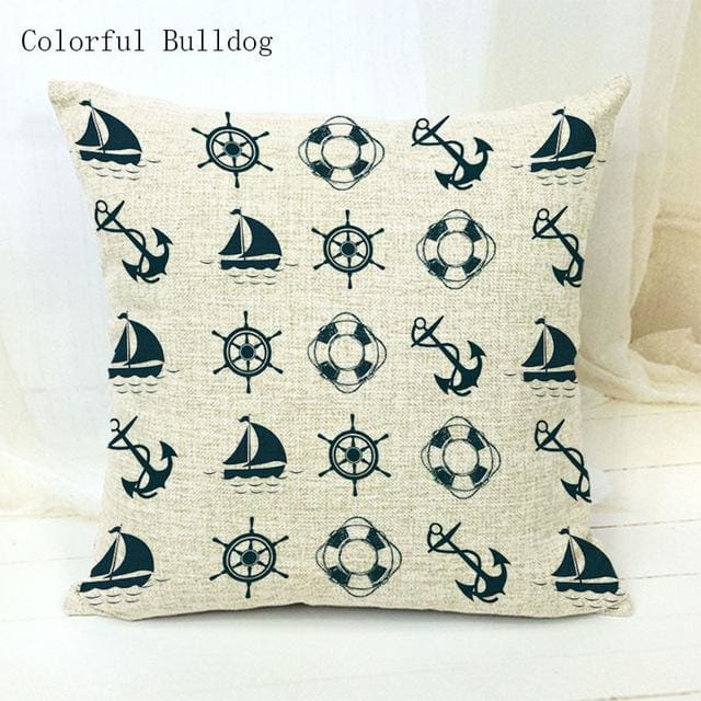 Marine Cushion Cover - 450mm*450mm / 11 - pillow case