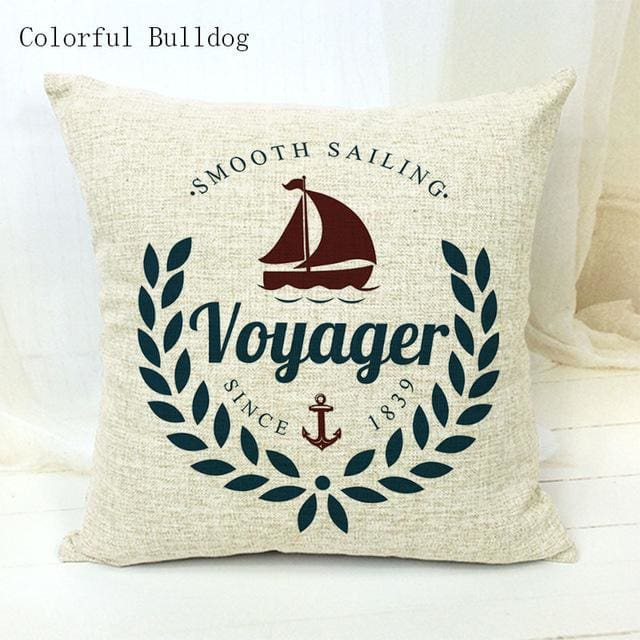 Marine Cushion Cover - 450mm*450mm / 19 - pillow case