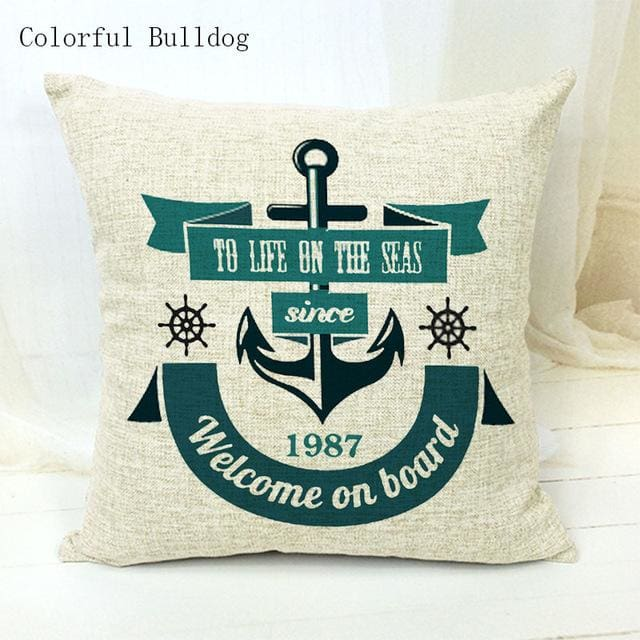 Marine Cushion Cover - 450mm*450mm / 23 - pillow case