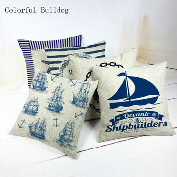 Marine Cushion Cover - pillow case