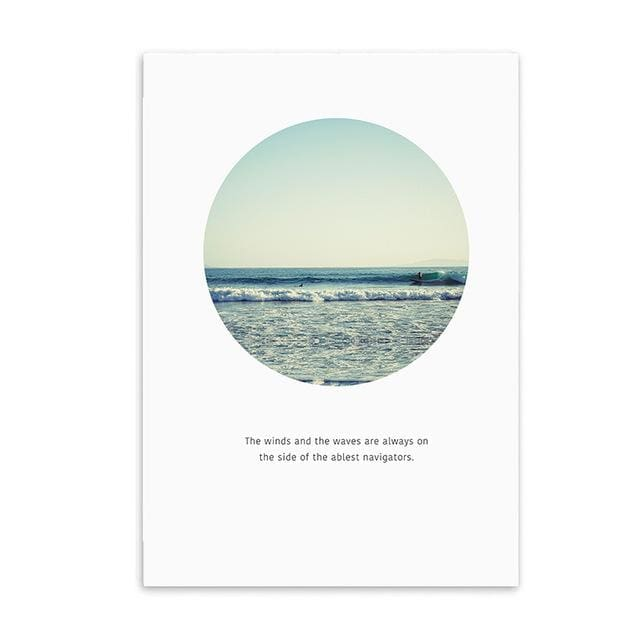 Minimalist Printed Wall Art - 20X25CM No Frame 1 / Round Beach - Wall Poster