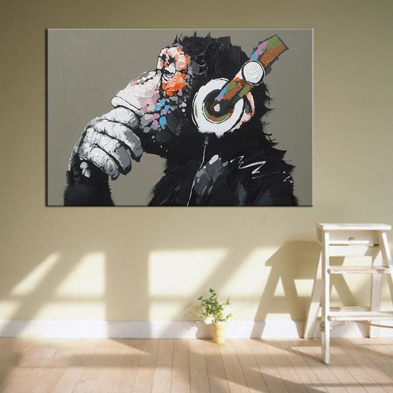 Monkey Canvas Decor - Wall Poster