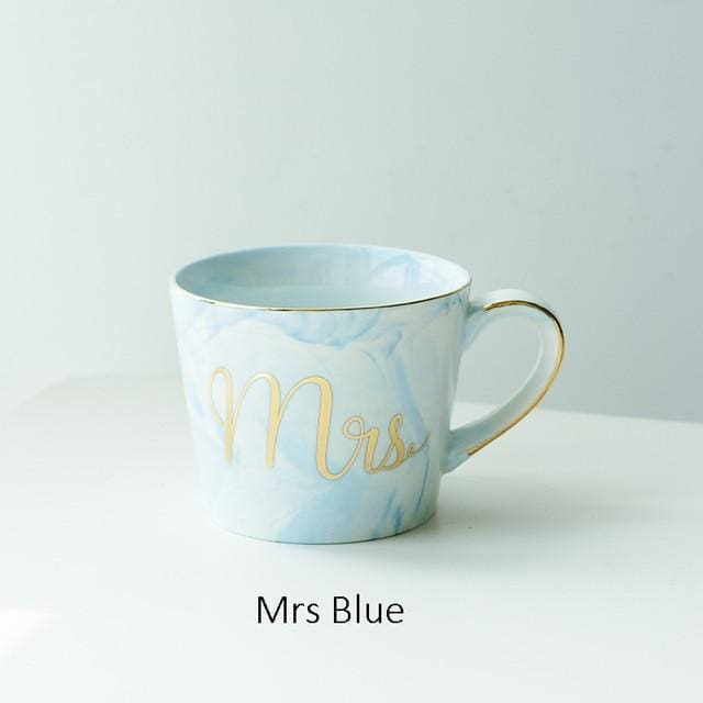 Mr and Mrs Tea Mugs - Mrs Blue - mug