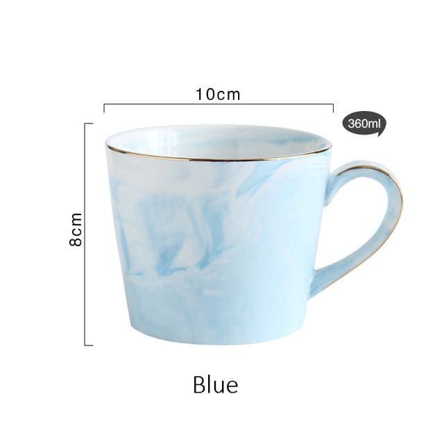 Mr and Mrs Tea Mugs - Blue - mug