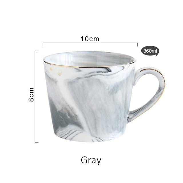 Mr and Mrs Tea Mugs - Gray - mug