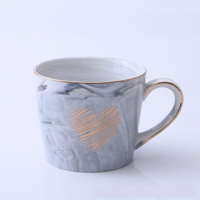 Mr and Mrs Tea Mugs - Love Gray - mug