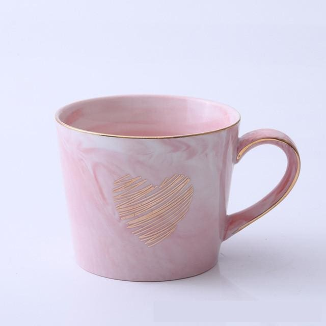 Mr and Mrs Tea Mugs - Pink Gray - mug