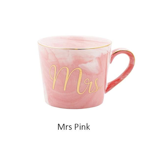 Mr and Mrs Tea Mugs - Mrs Pink - mug