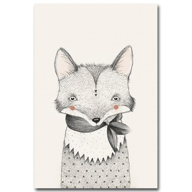 Nordic Animal Wall Posters - A4 21x30cm No Frame / Picture 3 - Wall Poster